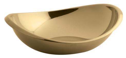 $135.00 Cognac Oval Bowl 10 inch