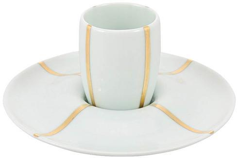 $57.00 Lotus White Expresso Cup and Saucer