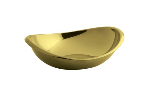 $50.00 Oval Bowl 5 1/2 x 4 3/4 in PVD Gold