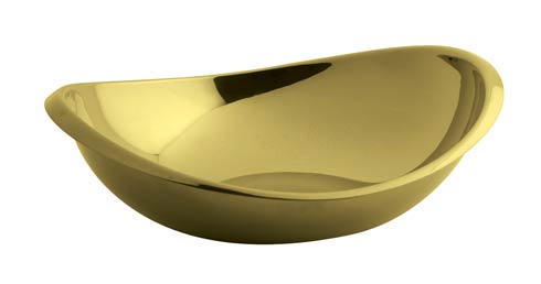 $100.00 Oval Bowl 8 1/2 x 7 1/2 in PVD Gold
