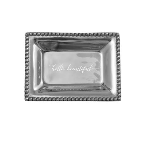 $40.00 Infinity Extra Small Tray with Hello Beautiful