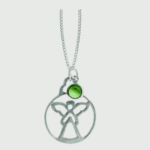 $15.00 Birthstone Angel Pendant - August