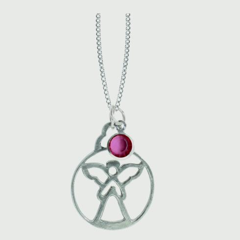 $15.00 Birthstone Angel Pendant - October