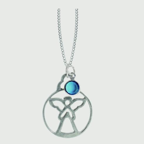 $15.00 Birthstone Angel Pendant - December