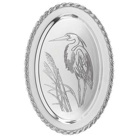 """$94.00 Latitudes Large Oval Heron Tray, 20"""" x 15"""""""