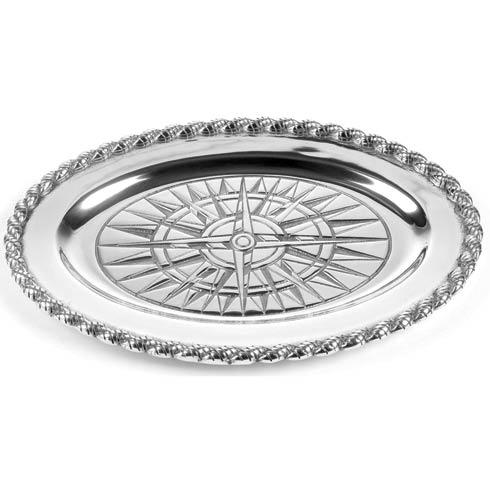 "$68.00 Voyages Medium Oval Tray, 14 ½"" x 10"""