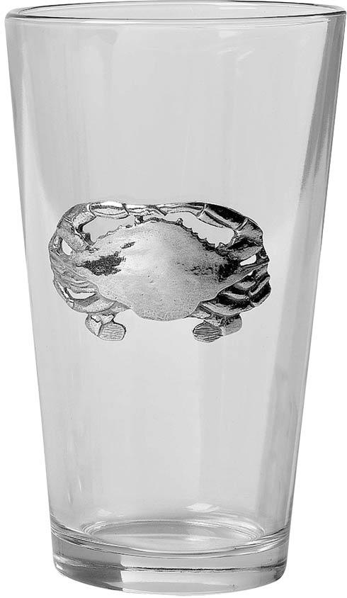 $55.00 Crab Pint Glass, set of 4