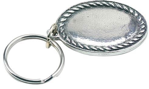$12.50 Rope Edge Engravable Key Ring