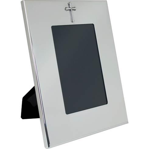 "$122.00 Vertical Wide Border Frame w/Cross 4"" x 6"""