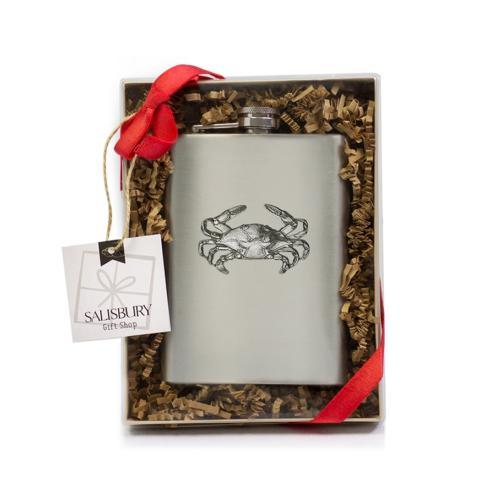 $24.00 Stainless Steel Crab Flask