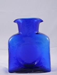 """$55.00 Blenko Water Bottle Cobalt  8""""  36Oz"""