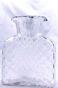 "$69.00 BLENKO DIAMOND OPTIC WATER BOTTLE CLEAR  8"" TALL  36OZ -"