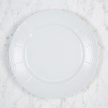 """$26.00 WEAVE WHITE 10.25"""" DINNER PLATE"""