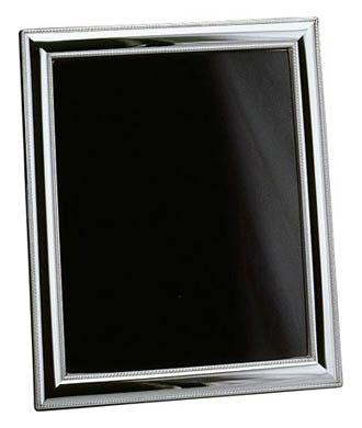 $200.00 Beaded Sterling 5 X 7 Wood Back Tarnish Resistant Frame