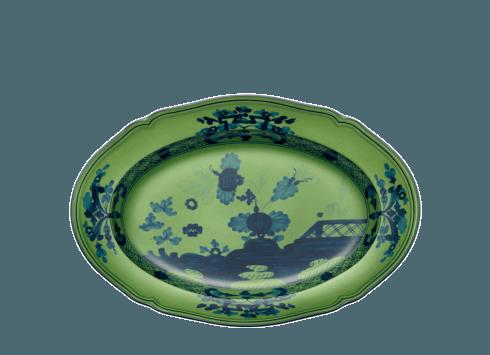 $150.00 Oriente Italiano Malachite Oval Pickle Dish