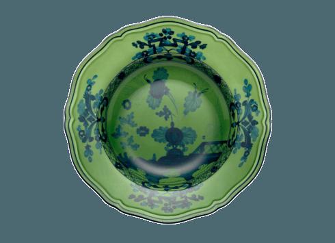 $95.00 Oriente Italiano Malachite Rim Soup Plate