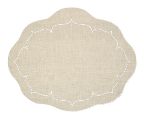 $100.00 Oval Linen Mat Natural - Set of 4