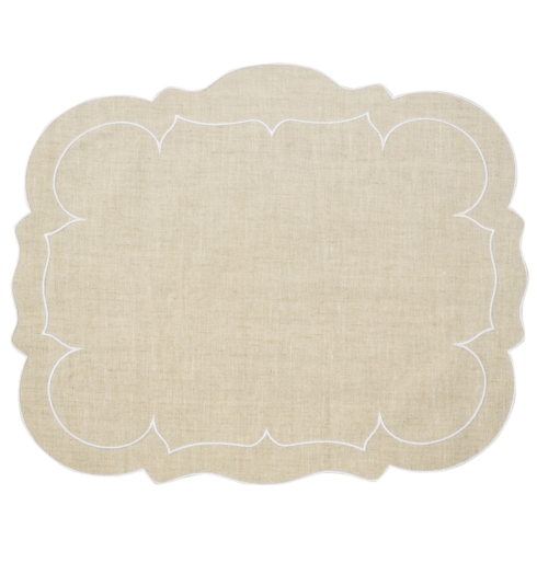 $100.00 Rectangular Linen Mat Natural - Set of 4