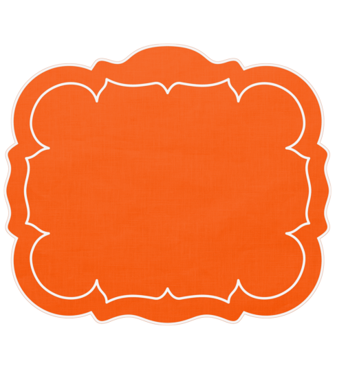 $100.00 Rectangular Linen Mat Orange - Set of 4