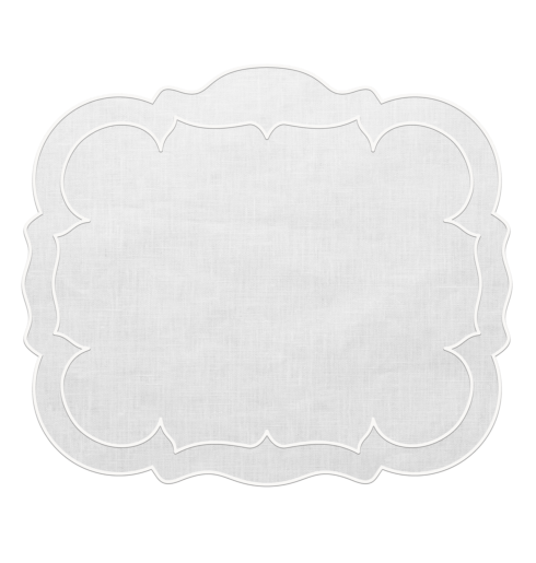 $100.00 Rectangular Linen Mat White - Set of 4