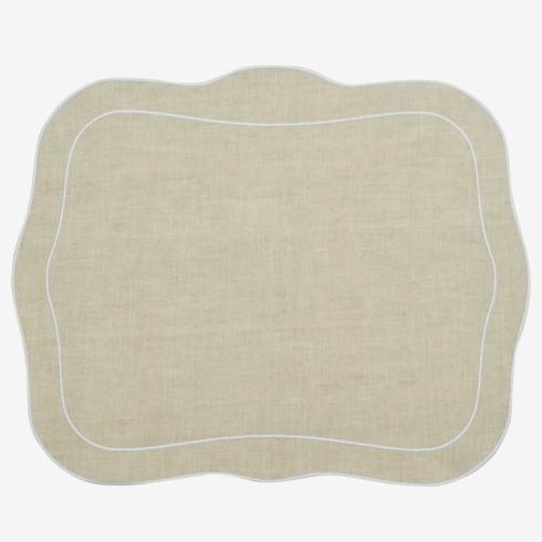 $100.00 Patrician Linen Mat Natural - Set of 4