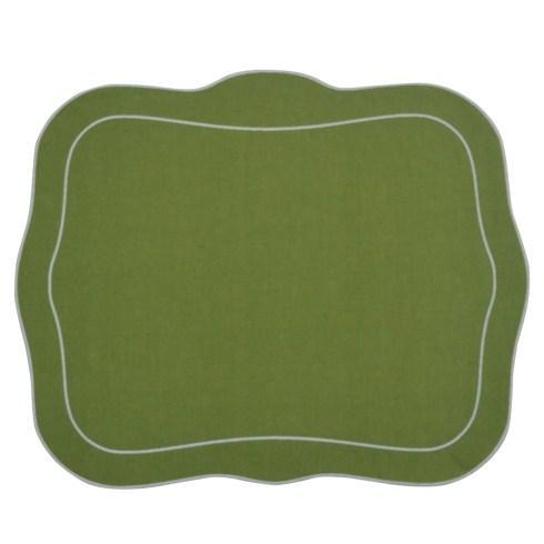 $100.00 Patrician Linen Mat Green - Set of 4