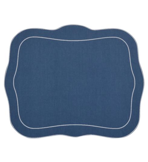 $100.00 Patrician Linen Mat Blue - Set of 4