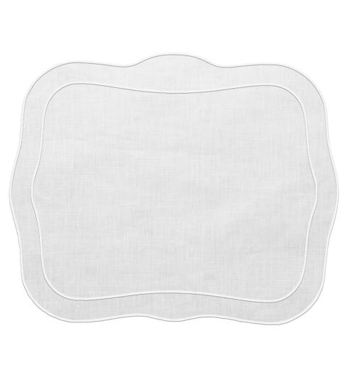 $100.00 Patrician Linen Mat White - Set of 4