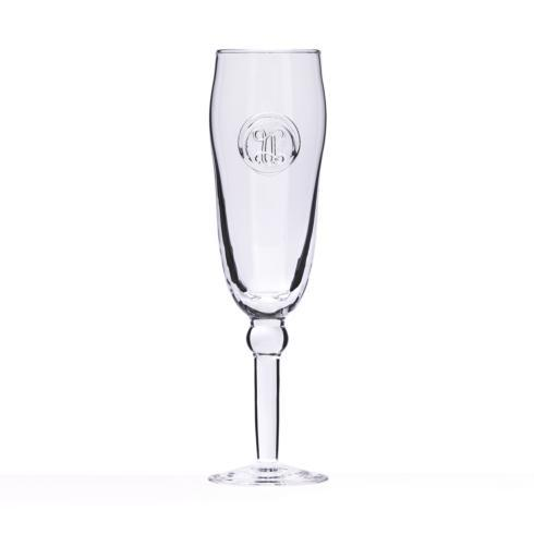 $35.00 Champagne Flute -Hand Stamped Inital