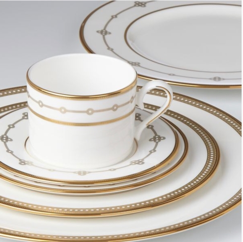 $140.00 Jeweled Jardin five piece place setting