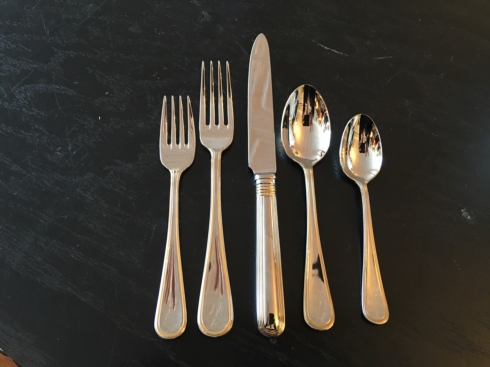 $85.00 Ascot gold five piece place setting