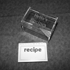 $44.00 Acrylic Recipe Box