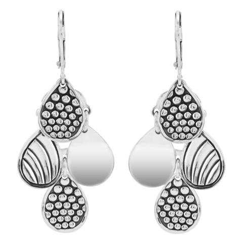 $195.00 Signature Caviar Four Drop Earrings