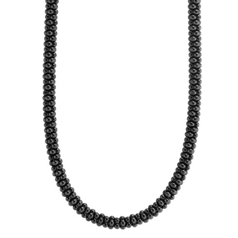 $495.00 Ceramic Black Caviar Necklace