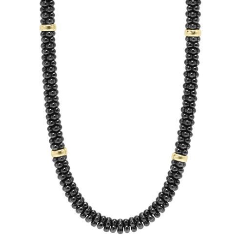 $795.00 Caviar & Gold Necklace