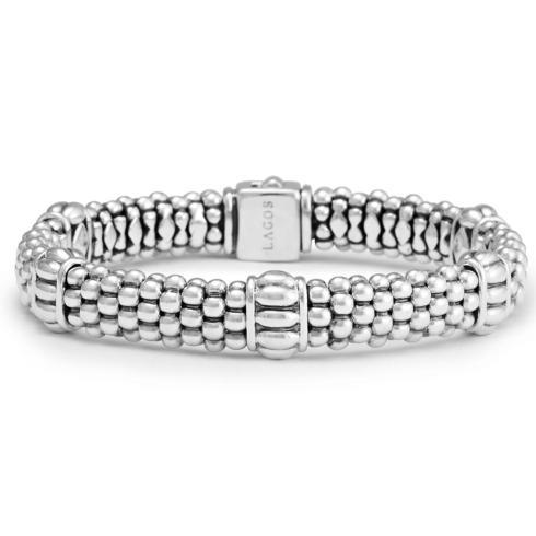 $395.00 Fluted Caviar Bracelet
