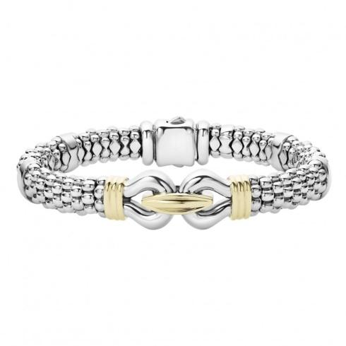 $950.00 Sterling Silver and 18k Gold Bracelet