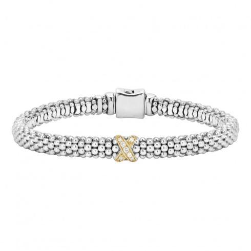 $595.00 Diamond Bracelet 18k and Sterling Silver