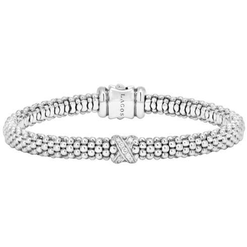$495.00 Single Station X Diamond Bracelet