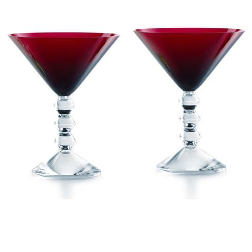 $330.00 VÉGA MARTINI GLASS RED PAIR