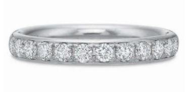$10,000.00 Diamond Bead Set half Band