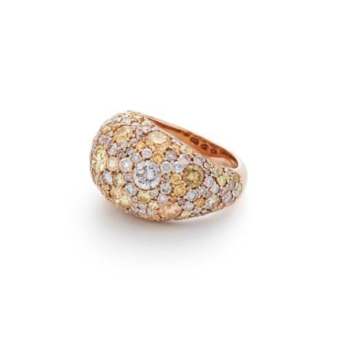 $34,800.00 Natural Fancy Colored Diamond Dome Ring