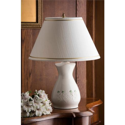 $99.00 BELLEEK CLASSIC SHAMROCK LACE LAMP AND SHADE