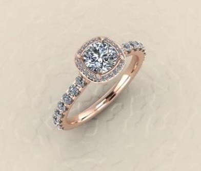 $0.00 rose gold engagement