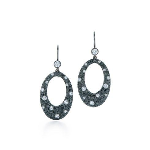 $8,400.00 Cobblestone Diamond Earrings