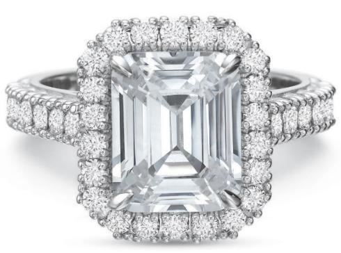 $10,000.00 Extraordinary Diamond Halo and Shank Engagement Ring