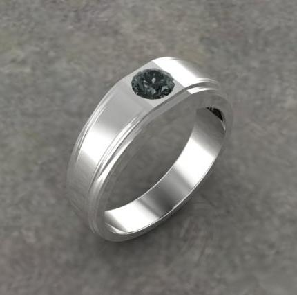 $0.00 Custom gents black diamond ring