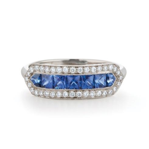 $3,300.00 Sapphire & Diamond Band 18K Gold