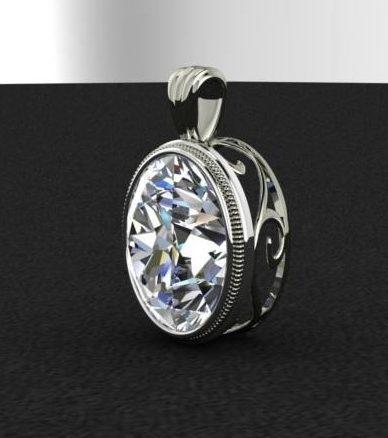 $0.00 oval pendant