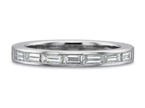 $10,000.00 .70ctw Half Round Horizontal Baguette Diamond Ring